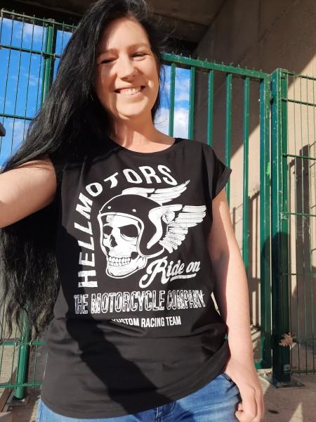 Frauen Girly T-Shirt Ride on einfarbig