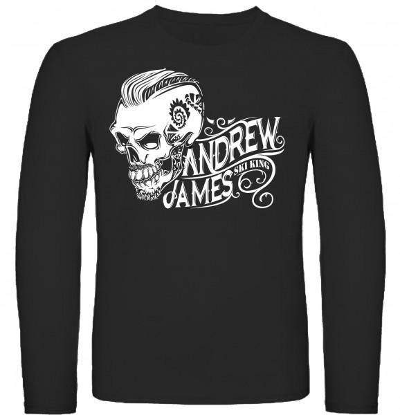 Andrew James Ski King Tattooed Skull Männer Longsleeve
