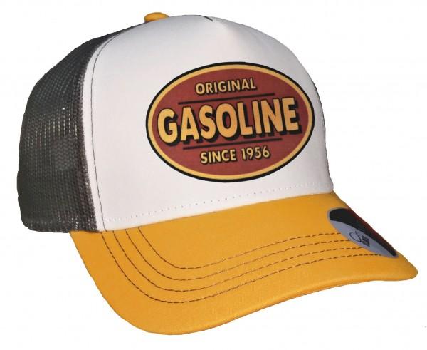 Trucker Cap - Gasoline - Canvas Grau/Weiß/Goldgelb
