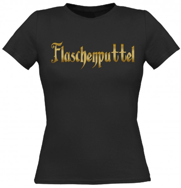 Damen T-Shirt Flaschenputtel - Gold