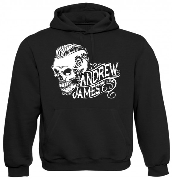 Andrew James Ski King Tattooed Skull Männer Hoodie