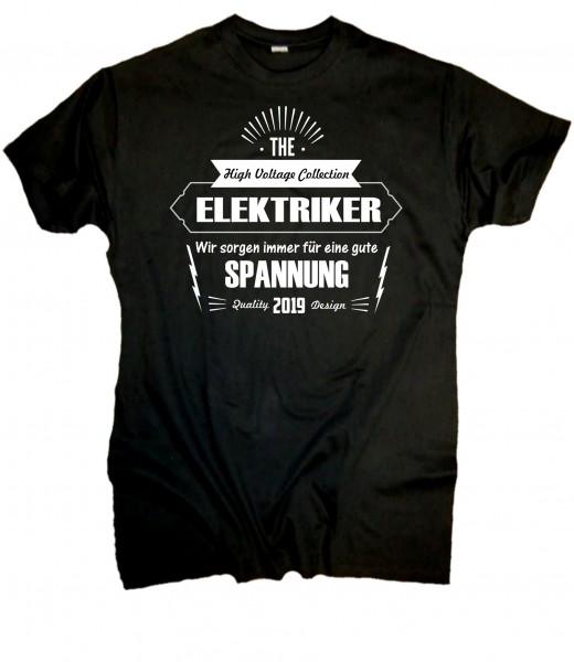 Herren Fun T-Shirt Elekrtiker Spannung