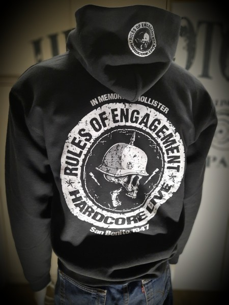 Herren Biker Kapuzenjacke Rules of Engagement