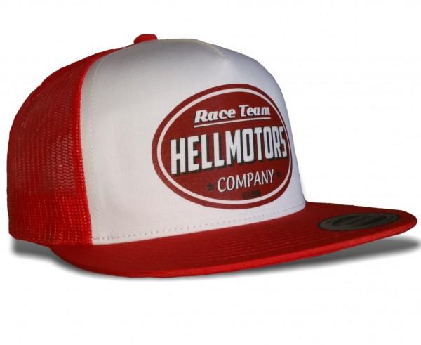 "HELLMOTORS SNAPBACK CAP ""Race Team"" Rot-Weiss"