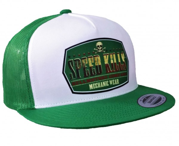 "HELLMOTORS SNAPBACK CAP ""Speed Kills""-grün"