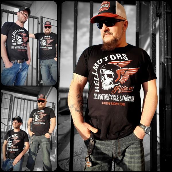 Herren Biker T-Shirt Ride on vorn