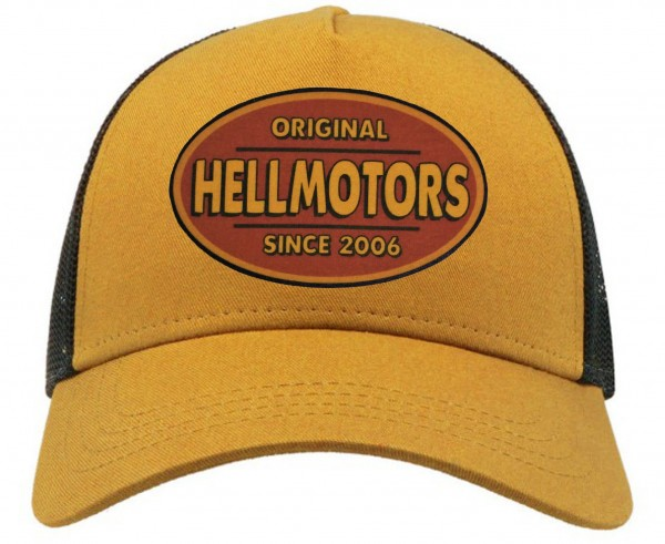 Trucker Cap - Hellmotors - Mustard/Black
