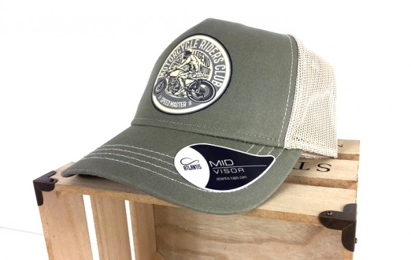 Trucker Cap - Cafe Racer - Canvas Oliv/Sand