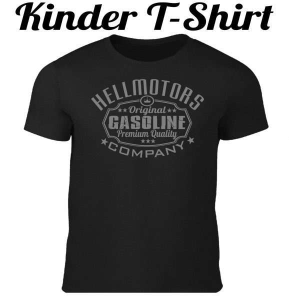 Kinder T-Shirt Gasoline in schwarz/grau