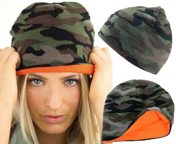 Beanie-Mütze-Camouflage-Herren-Damen-Unisex-Hellmotors