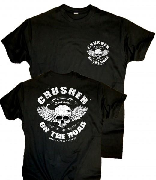 Herren Old School Biker T-Shirt Crusher