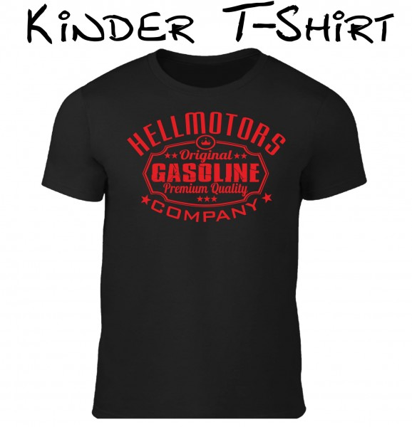 Kinder T-Shirt Gasoline in schwarz/rot