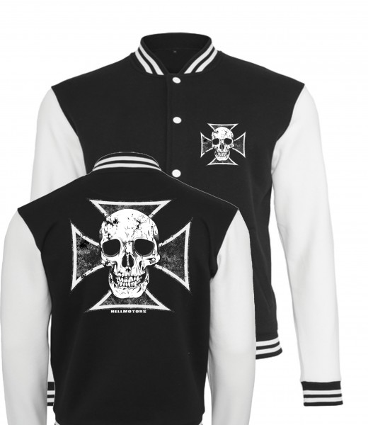 College Jacke Skull Cross