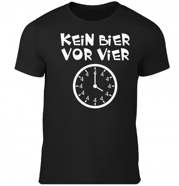 """Herren Fun T-Shirt """"Kein Bier vor Vier"""""""