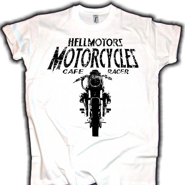 herren biker cafe racer t shirt moto guzzi by hellmotors. Black Bedroom Furniture Sets. Home Design Ideas