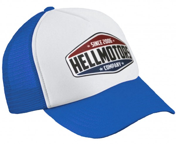 "HELLMOTORS TRUCKER CAP ""since 06"" Royalblau/Weiß"
