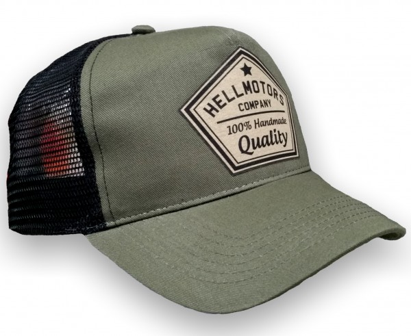 "HELLMOTORS CAP ""Quality"" Oliv/Schwarz"