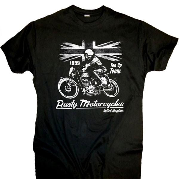 Herren T-Shirt BIKER-STYLE Rusty Motorcycles schwarz