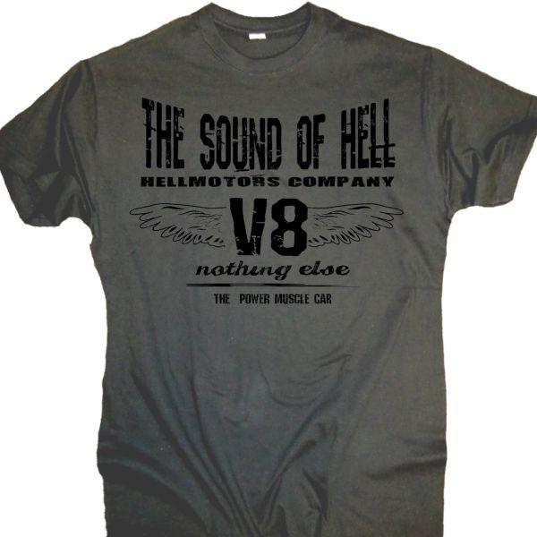 "Herren V8 T-Shirt ""SOUND OF HELL"" grau"