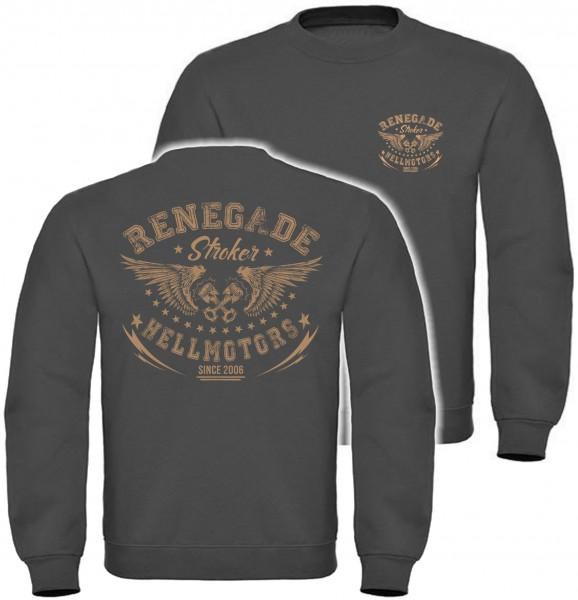 Herren Sweatshirt Renegade-grau/oliv/braun
