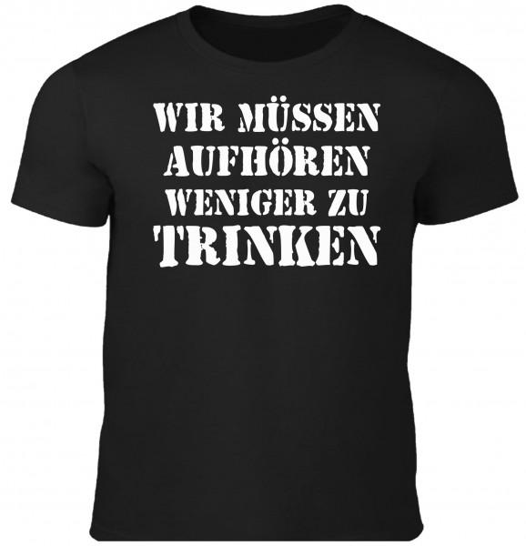Herren Fun T-Shirt - weniger trinken