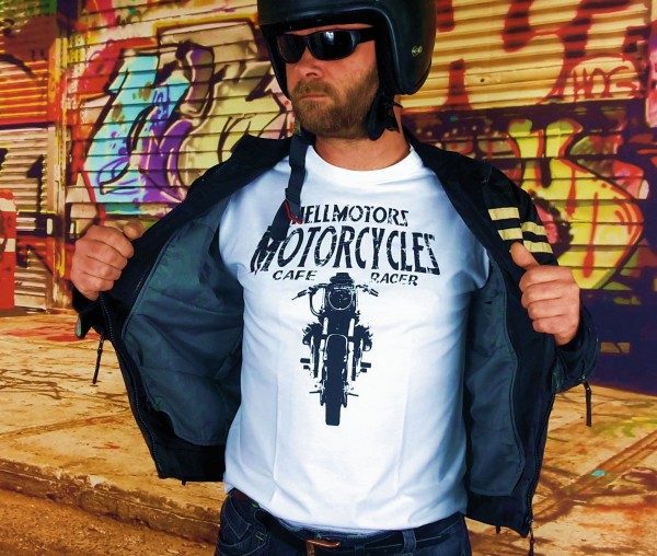 "Herren T-Shirt BIKER-STYLE ""Moto Guzzi"" weiss"