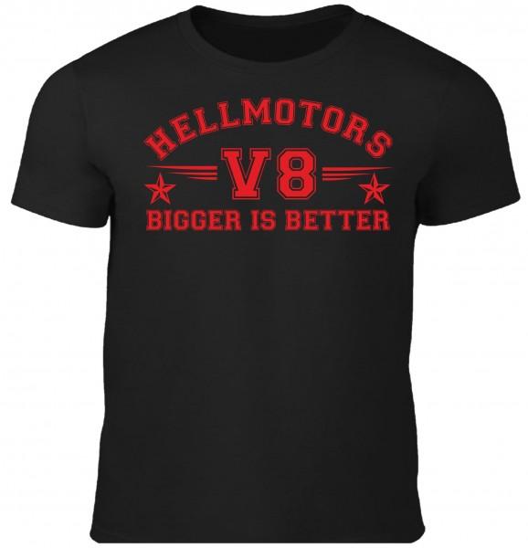 Herren T-Shirt Bigger is Better Black Edition