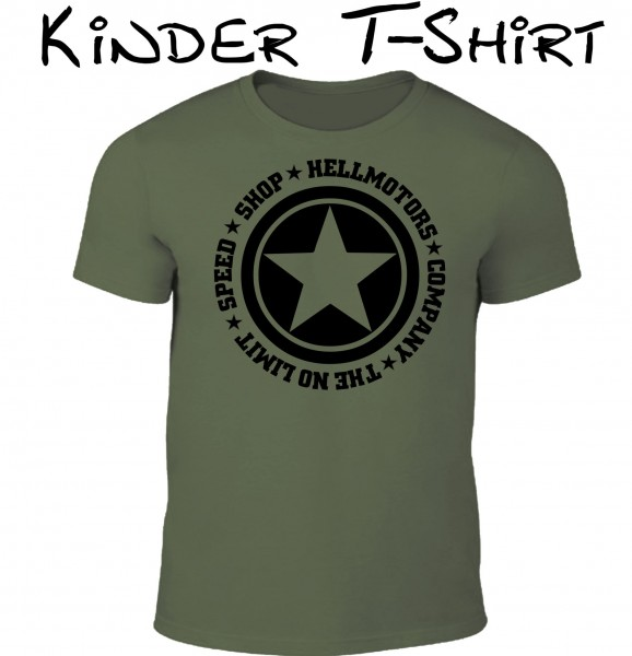Kinder T-Shirt Speed Limit in oliv/schwarz