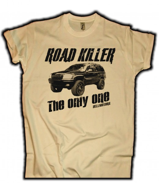 "Herren Offraod T-Shirt ""Road Killer"" Sand"