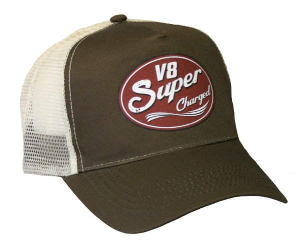 "HELLMOTORS Trucker CAP ""V8 Super Charged"" Chocolate"