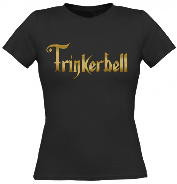 Damen T-Shirt Trinkerbell - Gold