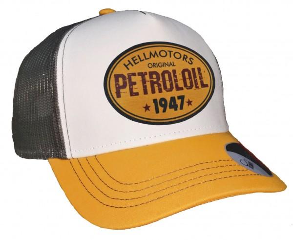 Trucker Cap - Petroloil - Canvas Grau/Weiß/Goldgelb