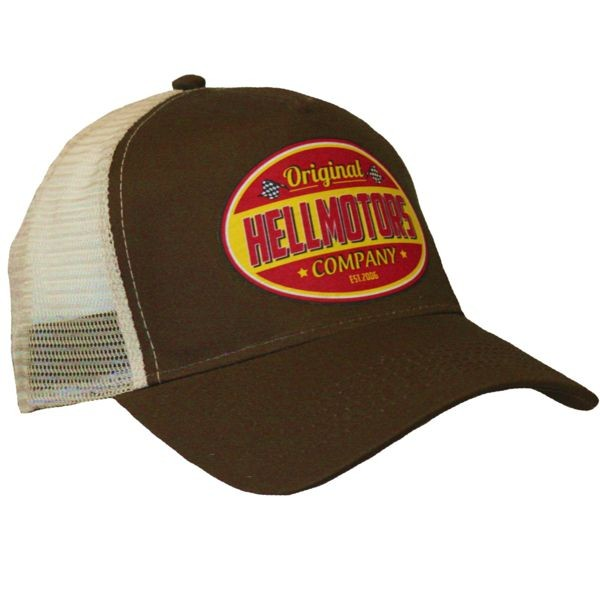 "HELLMOTORS CAP ""Company-Rot"" Chocolate"