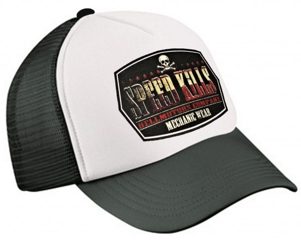 "HELLMOTORS TRUCKER CAP ""Speed Kills"" schwarz/weiß"