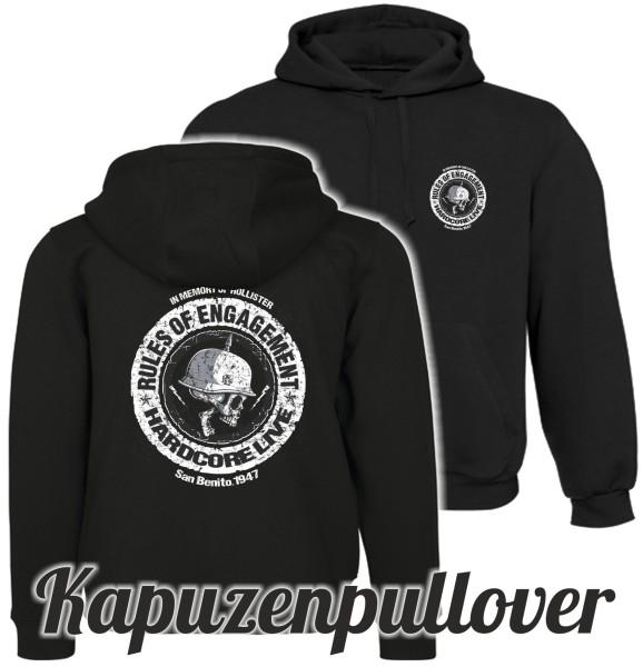 Herren Kapuzenpullover Skull Rules of Engagement beidseitig