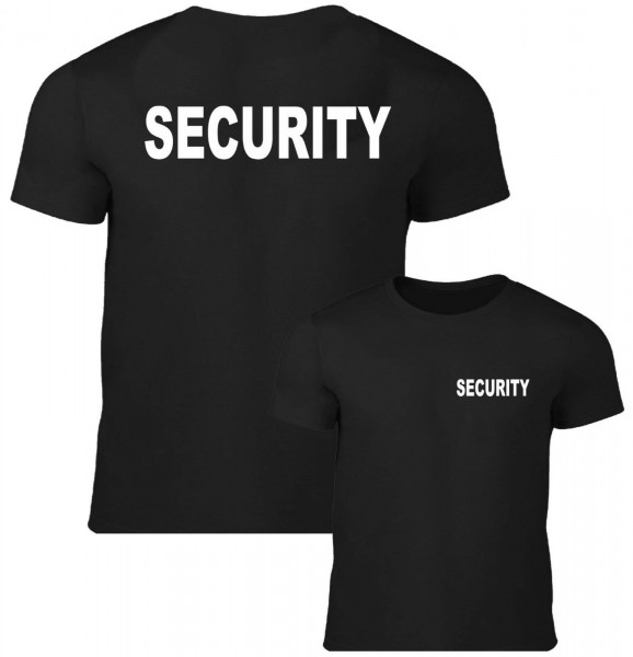 Herren Security T-Shirt schwarz