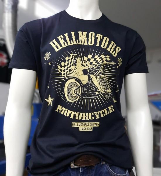 Herren Biker T-Shirt Motorcycle Babe