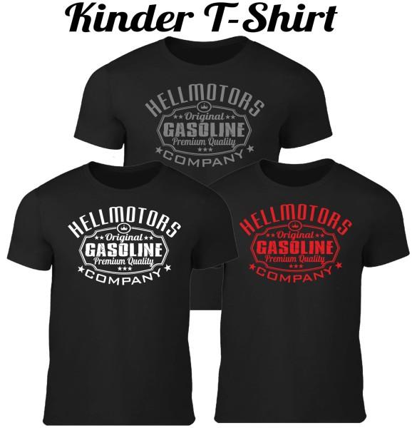 Kinder T-Shirt Gasoline in schwarz