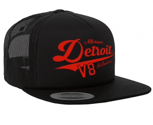 """HELLMOTORS SNAPBACK CAP """"Detroit Michigan"""" Schwarz"""