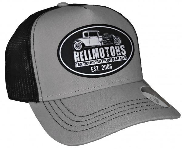 Trucker Cap - Hotrod Fast Shop - Canvas Grau/Schwarz