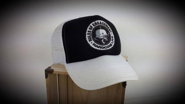 "HELLMOTORS TRUCKER CAP ""Rules"" schwarz/weiss"