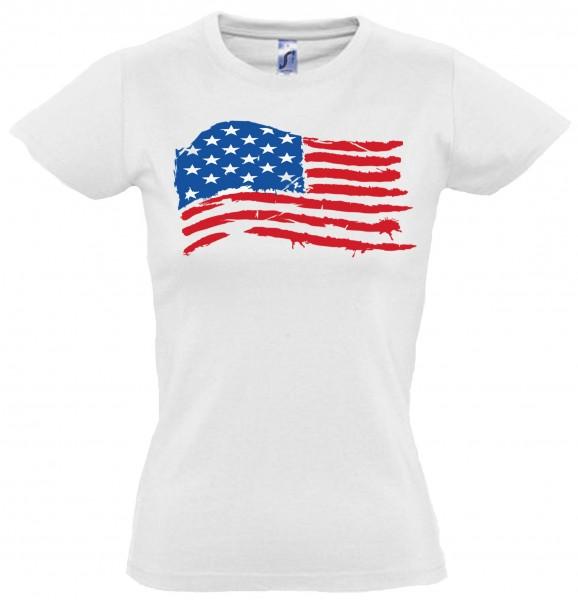 "Girly T-Shirt ""USA Flagge"""