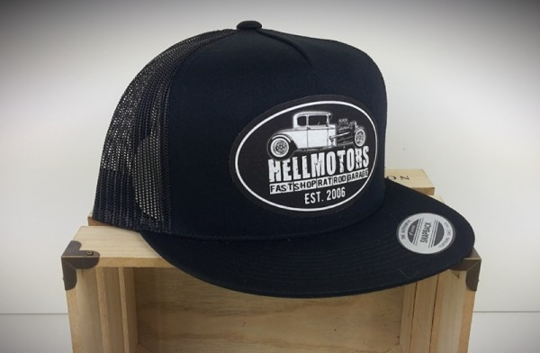 """HELLMOTORS SNAPBACK CAP """"Hotrod Shop"""" Black"""