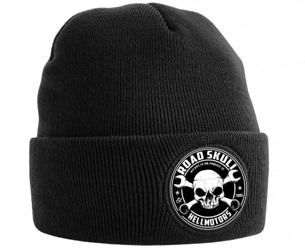 Beanie Mütze Road Skull schwarz