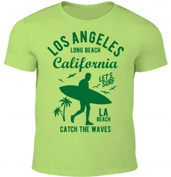 Herren T-Shirt Long Beach California