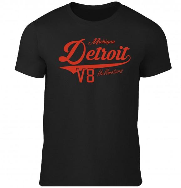 Kinder T-Shirt Detroit in schwarz