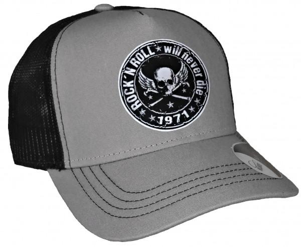 Trucker Cap - Rocknroll - Canvas Grau/Schwarz