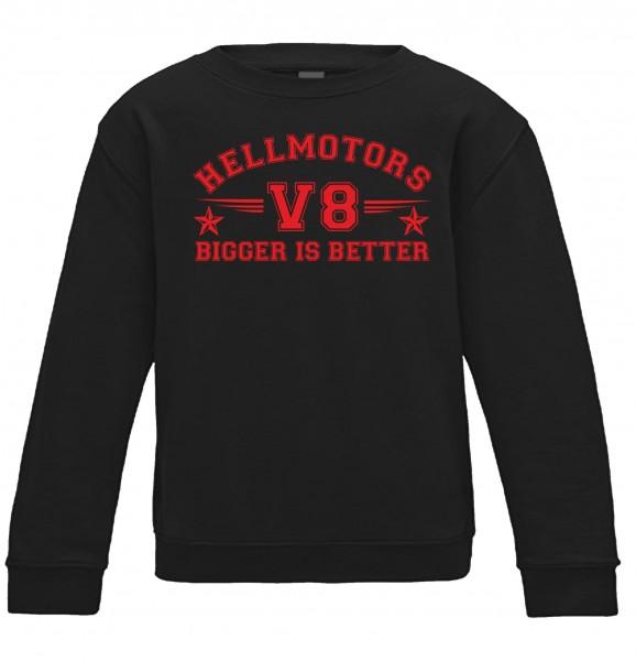 Kinder Sweatshirt bigger is better in schwarz