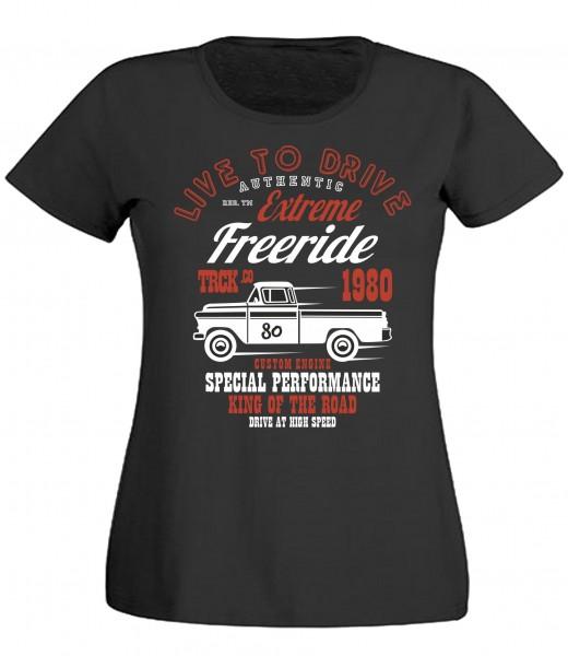 Damen T-Shirt Live to Drive