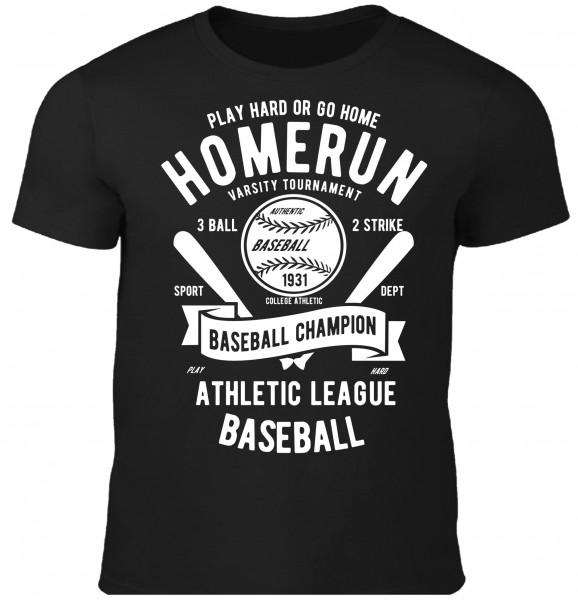 Herren T-Shirt Homerun Baseball